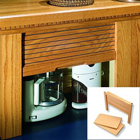 Kitchen Appliance Garages & Wood Tambour Doors