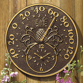 Outdoor Clocks & Thermometers