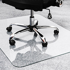 Glass Office Chair Mats for Carpet and Hard Floors