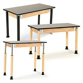 Adjustable Height Science Lab Tables