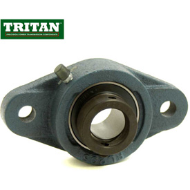 Tritan, Flange Mount Bearings, Standard Duty, 2-Bolt, Eccentric Locking Collar