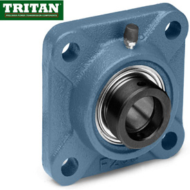 Tritan, Flange Mount Bearings, Standard Duty, 4-Bolt Sq. Flange, Eccentric Locking Collar
