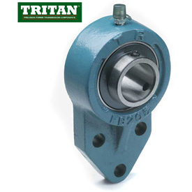 Tritan, Flange Mount Bearings, Standard Duty, Set Screw Locking, 3-Bolt