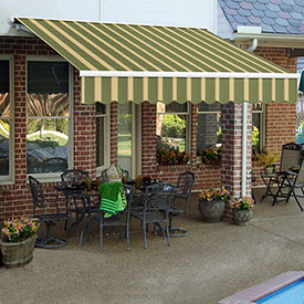 Awntech 20'W Heavy-Duty Motorized Retractable Awnings