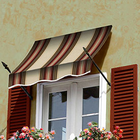 Awntech 5-3/8'W Spear Arm Awnings with Crescent Slope