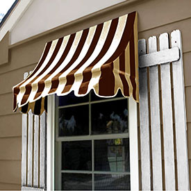 Awntech 6-3/8'W Crescent Shaped Awnings