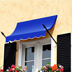 Awntech 6-3/8'W Spear Arm Awnings with Crescent Slope