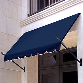 Awntech 7-3/8'W Spear Arm Awnings with Crescent Slope