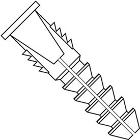 Ribbed Hollow Wall Plastic Anchors