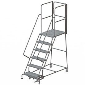 Steel Rolling Ladders with Rear Exit Walk Off Gates