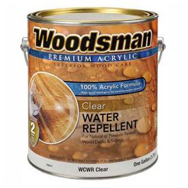 Woodsman Exterior Wood Stains, Preps and Sealers