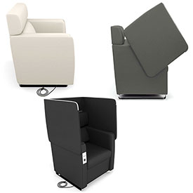 OFM Morph Series Privacy Seating with Recharge Panels