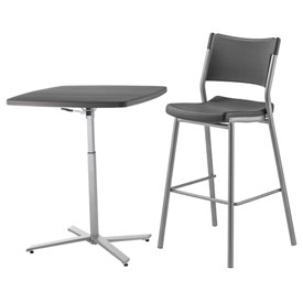 National Public Seating® - Cafe Time Bistro Table & Stools