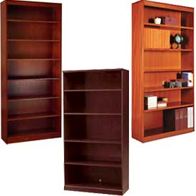 Wood Veneer - Full Height, Easy Assembly Bookcases