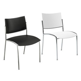 Mayline® - Escalate Series Bistro Stack Chairs