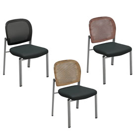 Mayline® - Valoré Series Mesh Fabric Bistro Chairs