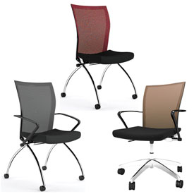 Mayline® - Valoré Series Mesh Fabric Training Chairs