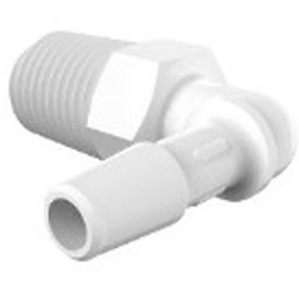 Bio-Medical Barbed Elbows, 1/4-18 and 3/8-18 NPT