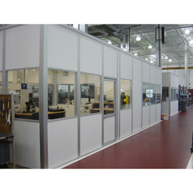 Porta-King Modular Inplant Offices, Class A Fire, STC31 Sound Rated, Vinyl Clad Over Drywall (Aluminum Frame)