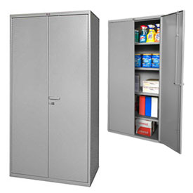Global™ All-Welded Heavy Duty 14 Gauge Storage Cabinets
