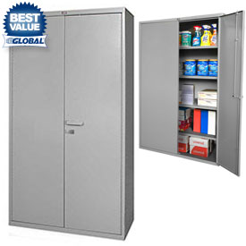 Global™ All-Welded Heavy Duty 16 Gauge Storage Cabinets