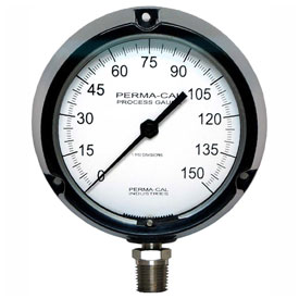 Perma-Cal Industries ABS Plastic Process Pressure Gauges With Stainless Steel Connections