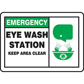 Accuform OSHA Emergency Eyewash & First Aid Signs