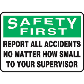 Accuform OSHA Safety First & Think Safety Signs