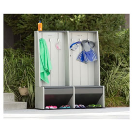 Plastic Outdoor Poolside Lockers
