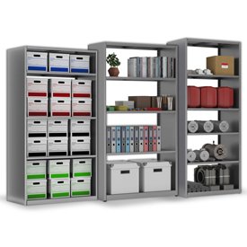 Tennsco Capstone - Solid Steel - Boltless Shelving