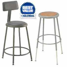 Interion™ - Round Seat Shop Stools