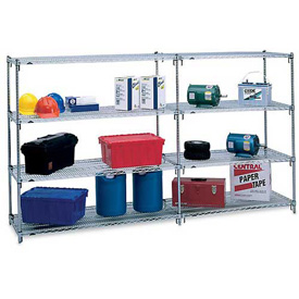 Metro® Super Adjustable 2, Polished Chrome, Open Wire Shelving
