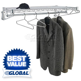 Wall Mount Coat Racks With Hanger Bars - Metal
