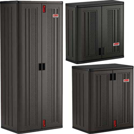 Plastic Garage Cabinets | Floor & Wall Storage Cabinet Systems