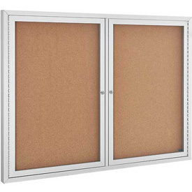 2 Door Aluminum Frame Cork Boards