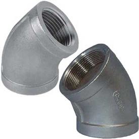 stainless steel 45 degree threaded elbows