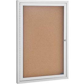1 Door Aluminum Frame Cork Boards