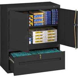 All-Welded Counter Height Cabinets With File Drawer