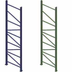 Interlake Mecalux - KD Bolted Tear Drop Pallet Rack Upright Frames