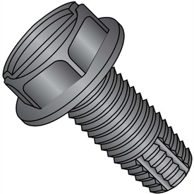 Slotted Hex Washer Thread Cutting Screws