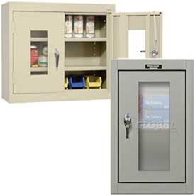 Clear-View Door Wall Mounted Storage Cabinets