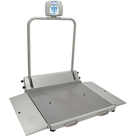 Health O Meter 2610KL Digital Wheelchair Dual Ramp Scale 1000 x 0.2lb/454 x 0.1kg, Portable by