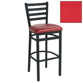 "4 Slat-Back Bar Stool 17-1/2""W X 16""D X 43""H - Red - Pkg Qty 2"