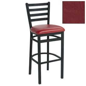 "4 Slat-Back Bar Stool 17-1/2""W X 16""D X 43""H Burgundy Package Count 2 by"