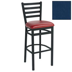 "4 Slat-Back Bar Stool 17-1/2""W X 16""D X 43""H Slate Blue Package Count 2 by"