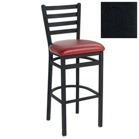 "4 Slat-Back Bar Stool 17-1/2""W X 16""D X 43""H Black Package Count 2 by"