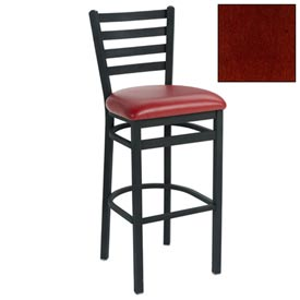 "4 Slat-Back Bar Stool 17-1/2""W X 16""D X 43""H Mahogany Package Count 2 by"
