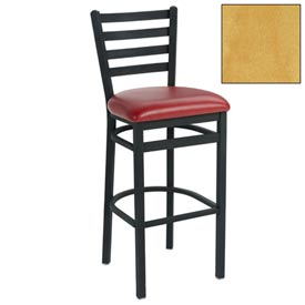 "4 Slat-Back Bar Stool 17-1/2""W X 16""D X 43""H Natural Package Count 2 by"