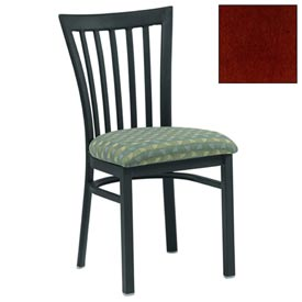 "Vertical Slat-Back Chair 17-1/2""W X 17""D X 34""H - Mahogany - Pkg Qty 2"