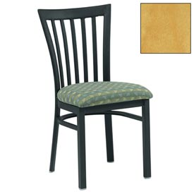 "Vertical Slat-Back Chair 17-1/2""W X 17""D X 34""H - Natural - Pkg Qty 2"